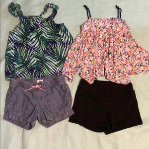 Girls tank and shorts bundle